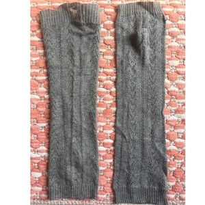 Pointelle Stitch Fingerless Gloves